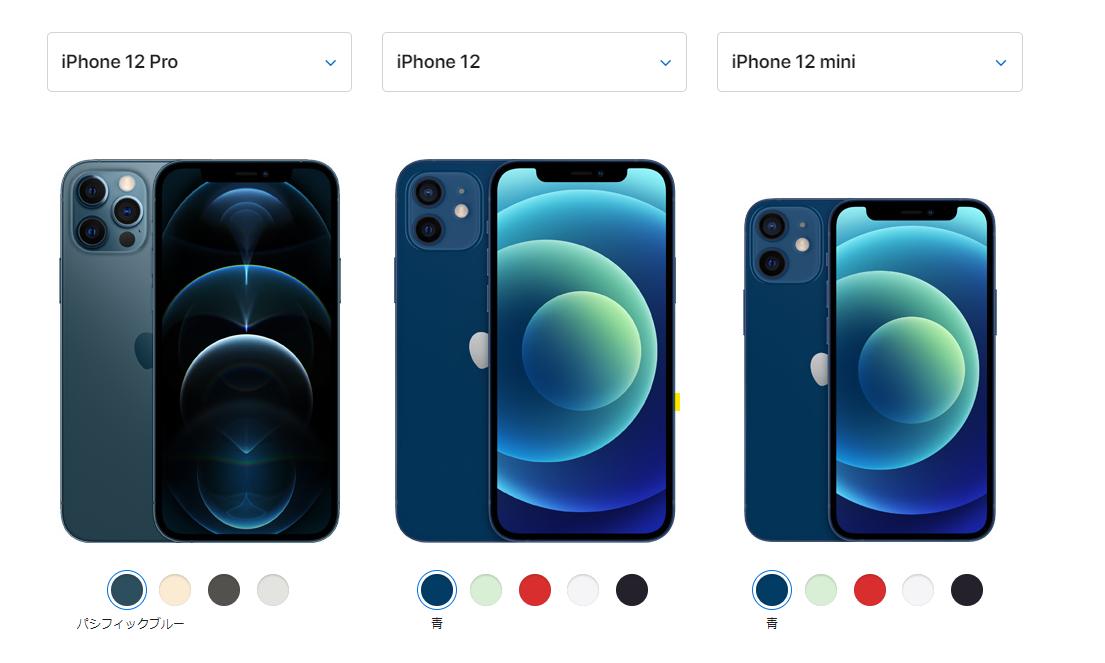 【比較】iPhone12シリーズ比較|あなたに向いている機種はどれ?